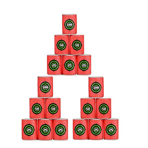 18 Pcs Dart Foam Gun Shoot EVA Soft Bullet Target Shoot Dart Kids Toy For NERF Gun N-Strike Blasters Small Size