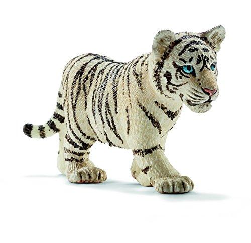 Schleich 14732 - Tigerjunges, Tier Spielfigur, weiß