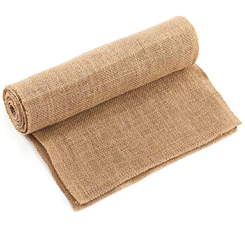 Baby Shower Coffee - CCTRO Burlap Hessian Table Runner, 12x108 Rustic Natural Jute Country Vintage Table Runners for Wedding Decoration Rustic Kitchen Decor Farmhouse Decoration
