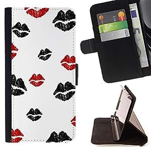 King Case - FOR Apple Iphone 6 - ?I will choose silence - Prima caja de la PU billetera de cuero con ranuras para tarjetas, efectivo Compartimiento desmontable y correa para la mu?eca