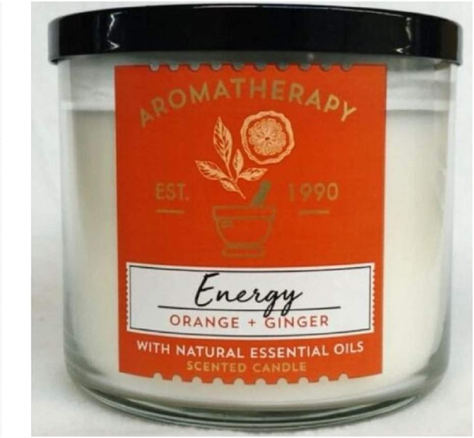 Bath Body Works Low price Max 72% OFF 3-Wick Scented Aromatherapy Candle Energy -