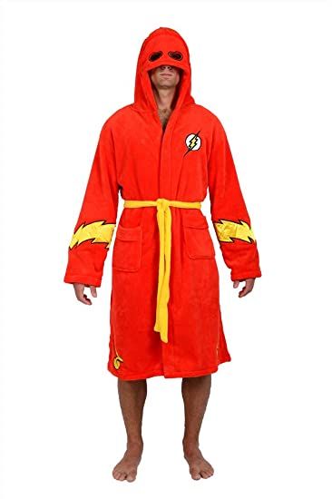 DC Comics Red Flash Hooded Fleece Robe (One Size)