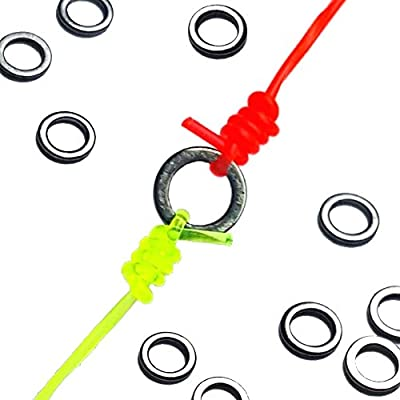 Holly Flies Tippet Rings | 10 Pack | 2mm Lightweight Trout Leader and Fly Fishing Tippet Connectors
