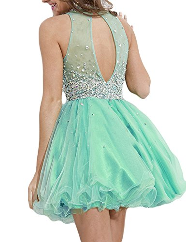 Fanciest Homecoming Crystal Prom nigsblau Kurz Black k Halter Kleides Kleid Women' Formelle rx4U7r