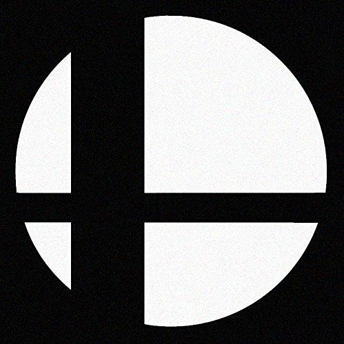 Nintendo Super Smash Bros Logo Car Decal Sticker White (cars, laptops, windows) (Decal Smash Super Bros)