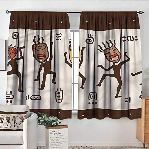 (Primitive,Kids Decor Curtain Cartoon Primitive Native 104