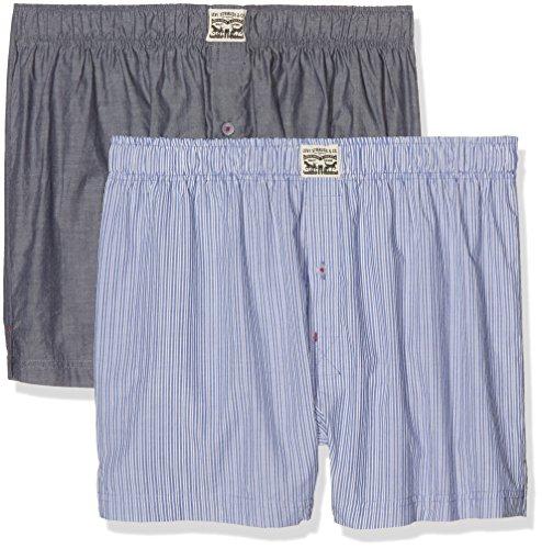Striped 300ls De Jeans Blau 599 Levi's Chambray Woven Hombre Levis pack Boxer blue 2 wCq455FE