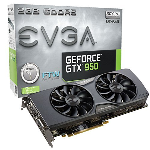 51EeGJNYFNL - EVGA GeForce GTX 950 Ref Graphics Card Graphics Cards