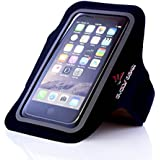 #1 Workout Armband for iPhone 6 / 6S & Samsung Galaxy S5 / S6 / S7 by EVOLV GEAR, Fit for Large to X-Large Arms, Great for Running / Exercise! FREE Weight Loss Guide Included!!!