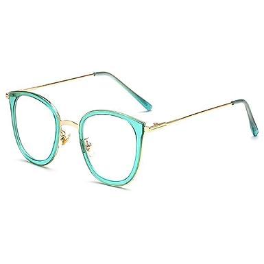 21aa3efef61e8 Hzjundasi Mode Des lunettes pour Femme et Homme Lentille claire Vintage  Métal Cadre Anti-fatigue Lunettes UV400  Amazon.fr  Vêtements et accessoires