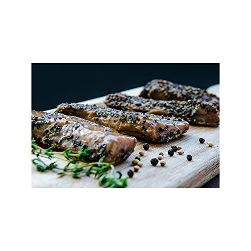 Indian Candy Maple Smoked Wild British Columbia Salmon Fish From Canada Candied and Cured in Maple Syrup Ships Frozen (2 lbs)