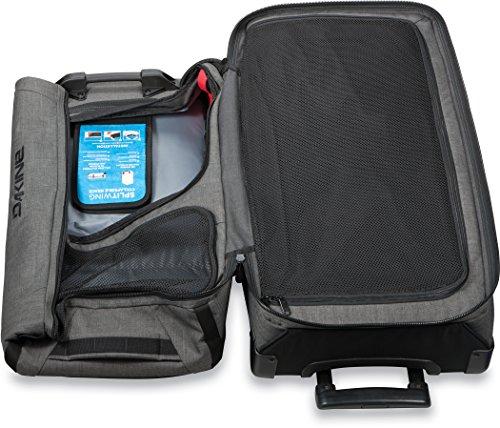 Dakine 10000784  - Unisex Split Roller Luggage Bag - Durable Construction - Split-Wing Collapsible Brace Level - Exterior Quick Access Pockets (Carbon, 85L) by Dakine (Image #7)