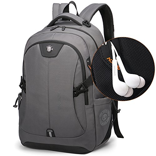 (aoking Fashion Three Size Three Colors Backpack with laptop compartment Men Big Cool Backpack Knapsack (Small, Grey))