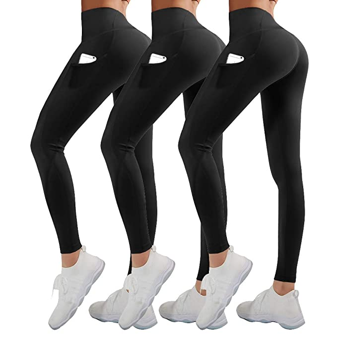 Amazon.com: High Waist Yoga Pants for Women with Pockets ...