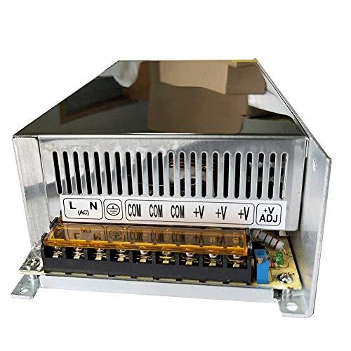 Henxlco AC 110V - 220V TO DC 12V Regulated Transformer Switch Power Supply Driver Adapter For CCTV camera Security System LED Strip Light (40A) 40a Dc Power Supply