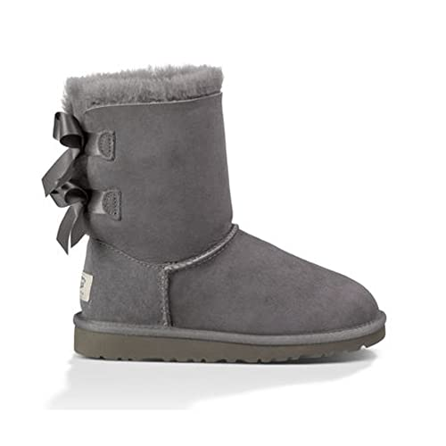 35fb5aa56df UGG Australia Girls' Bailey Bow Sheepskin Fashion Boot Grey 5 M US ...