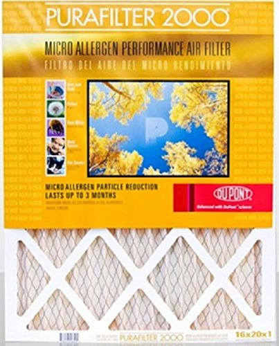 Purafilter Gold 21x23x1 (Actual Size) (MERV 11) 1-Inch Filter (4 Pack)