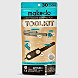 Makedo Cardboard Construction Toolkit, Includes 30 Kid-Friendly Reusable Tools, Perfect for Classroom STEM Learning and At-Home Play for Kids age 4+