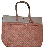 Coach Resort Snake Print Extra Large Tote F26129 Peach Multicolor