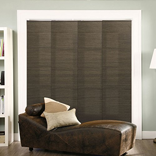 Bedroom Closet Doors (Chicology Adjustable Sliding Panels, Cut to Length Vertical Blinds, French Oolong (Natural Woven) - Up to 80