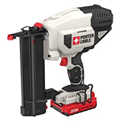 The PORTER-CABLE PCC790LA 20V MAX Lithium 18GA Brad Nailer Kit is 100% battery powered which eliminates need for compressor, hose or costly gas cartridges. The special motor design provides consistent firing power into various materials and c...