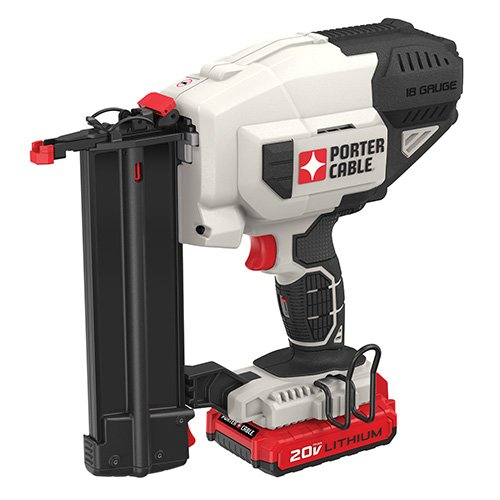 PORTER-CABLE PCC790LA 20V MAX Lithium 18GA Cordless Brad Nailer Kit, Includes Battery and Charger 18v Angled Finish Nailer