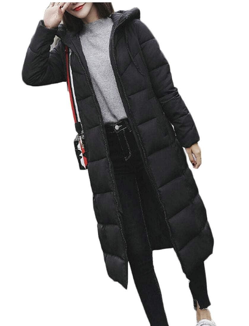Generic Womens Winter Parka Long Puffer Down Jacket Hooded Coat