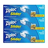 quart freezer bags slider - Ziploc Gallon Slider Freezer Bags, 72 Count