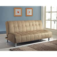 Acme 05635 Sylvia Adjustable Sofa, Beige Microfiber Finish