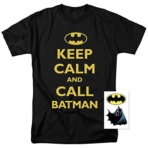 Batman Keep Calm DC Comics T Shirt (Small) Black