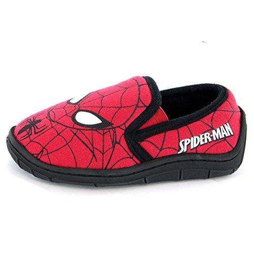 Tamanhos E Impressão Vários Web Chinelos Preto Elástico Vermelho Spiderman X7O8wqR