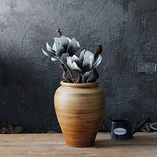 Villa Pot - XHZJ Rough Terracotta Antique Mediterranean Style Villa Garden Succulent Potted Plants, Floral Large Flower Pots Ceramics Old, Creative Rough Terracotta Green Planting Planter Pots (Color : Size 2)