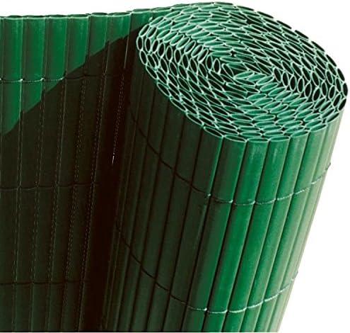 Faura 15001 - Cañizo de PVC de Doble Cara para decoración Exterior, Color Verde: Amazon.es: Jardín
