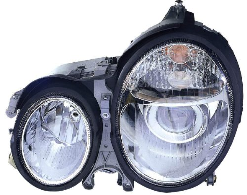 Mercedes E320 W210 - Depo 340-1118PXAS Mercedes Benz E Class Chrome Headlight Assembly Projector