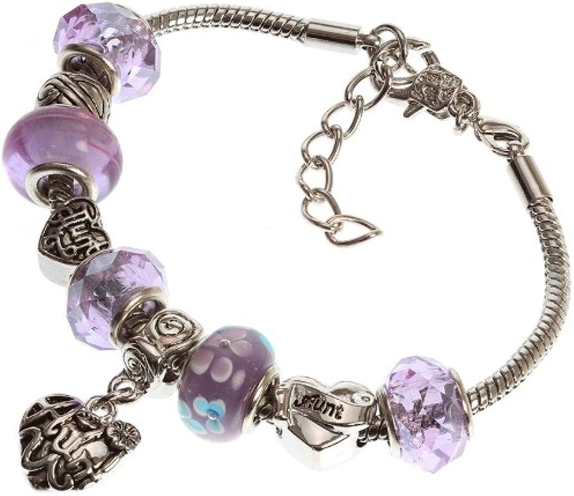 Amazon.com: Aunt's Charm Bracelet with Removable Pandora ...