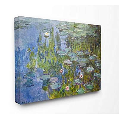 Stupell Industries Monet Impressionist Lilly Pad Pond Painting Canvas Wall Art, 36 x 48, Multi-Color