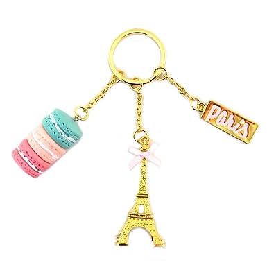 Amazon.com: Llavero Macarons De Paris rose oro.: Clothing