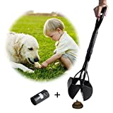 Beinhome Pooper Scoopers Long One-Hand Use Dog Poop Scoop Removal Pet Jaw Scoop Design