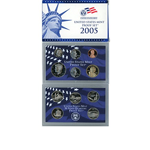 Gold State Quarter Set - 2005 S US Mint 10 Coin Proof Set Original Government Packaging