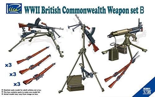 Riich Models WWII British Commonwealth Weapon Set B (1/35 Scale)