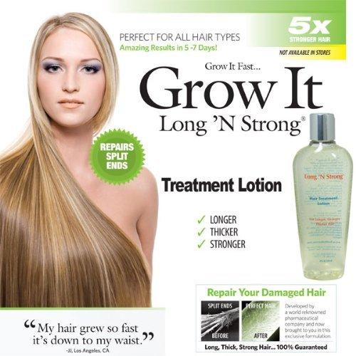 Want Longer Hair? Want Stronger Hair? Grow Hair Fast! Buy Long 'N Strong® Treatment Lotion - Longer, Thicker Hair! - Split End Repair - Split end treatment!
