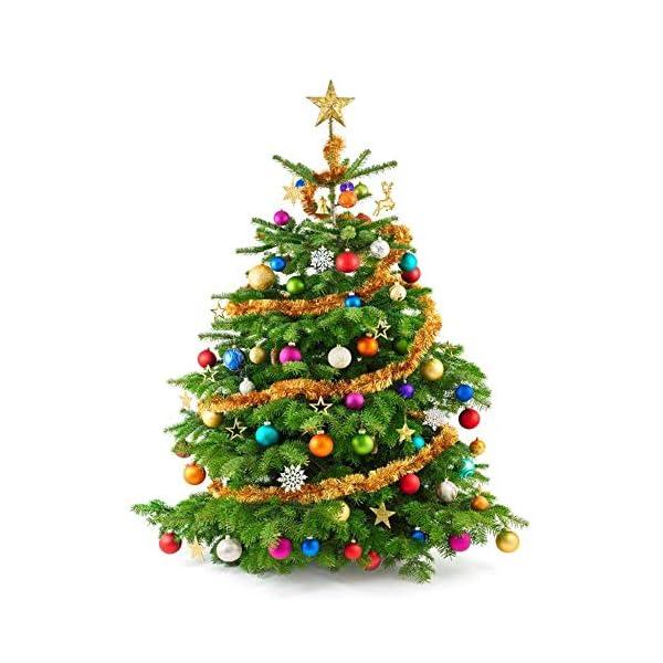 Palla di Natale Diametro 6 cm Albero di Natale Deco Appeso Palle per Albero di Natale Bauble Palla di Natale in Plastica Set Utilizzato per Decorazioni Natalizie per Feste Colore Misto (24 pezzi) 4 spesavip