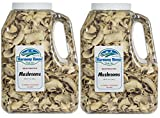 Harmony House Foods, Dried Mushrooms, Sliced (14 Ounce Gallon Size Jug) - Set of 2
