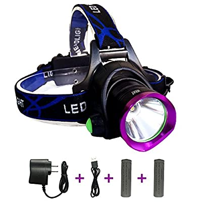 Adjustable Headlamp , LED Headlamp Flashlight Headlights with Rechargeable 18650 Batteries USB Charger for Cycling Running Dog Walking Camping Hiking Fishing Night Reading