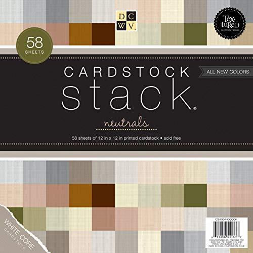 Textured Neutrals Cardstock Stack 12