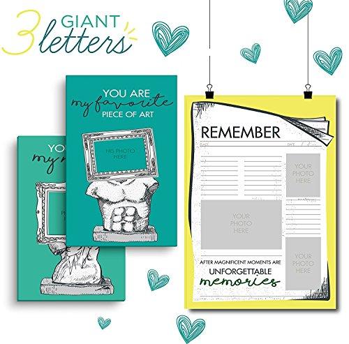 Little Big Drop, ¡Carta Gigante para tu Pareja! ¡El Regalo Perfecto para tu Novio o Novia, Regalo Personalizado Para su Pareja! Agrega Fotos y Lindos Mensajes