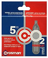 The Crosman 12g CO2 Powerlets 15-count is a versatile tool that is compatible with any airgun, airsoft, paintball, bike tire inflator or other device that requires a 12g CO2 container. It is crafted using super durable metal materials that re...