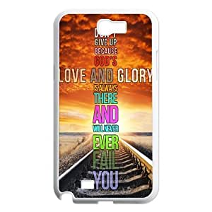 Never Give Up Design Top Quality DIY Hard Case Cover for Samsung Galaxy Note 2 N7100, Never Give Up Galaxy Note 2 N7100 Phone Case