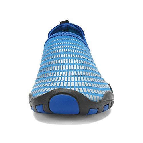 Bigcount Uomo Donna Acqua Aqua Scarpe Quick Dry Scarpe A Calzino Pelle A Piedi Con Fori Di Drenaggio Per Beach Swim Surf Gym Light Blue