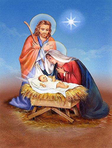 Christmas Nativity Canvas House Flag, Large, Multicolor - Caroline's Treasures APH3905CHF